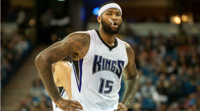 DeMarcus Cousins pushes security guard for no apparent reason
