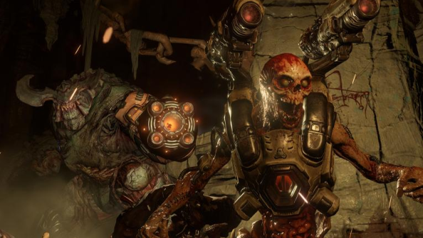 Doom multiplayer trailer is fast and bloody